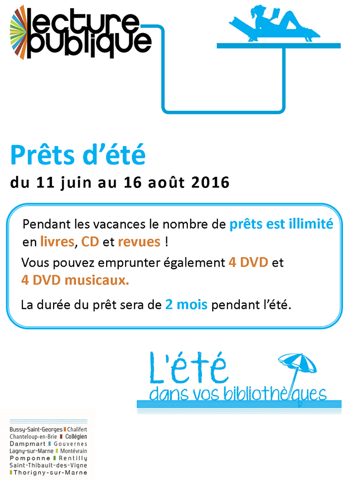 pret illimite mediatheque ete 2016